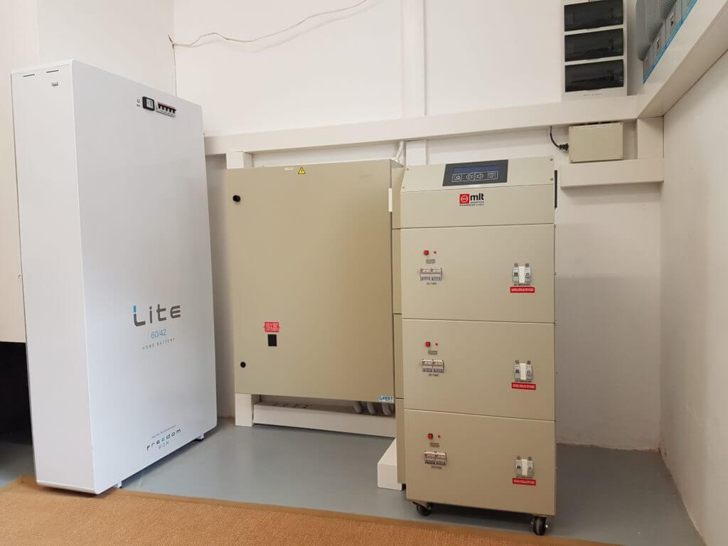 Solar Battery System 18kVA with 60kWh Freedom Won Lithium Battery