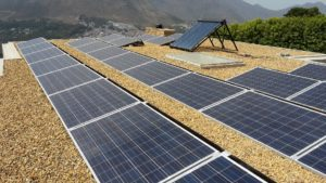 Grid-tied Solar System in Hout Bay flat roof